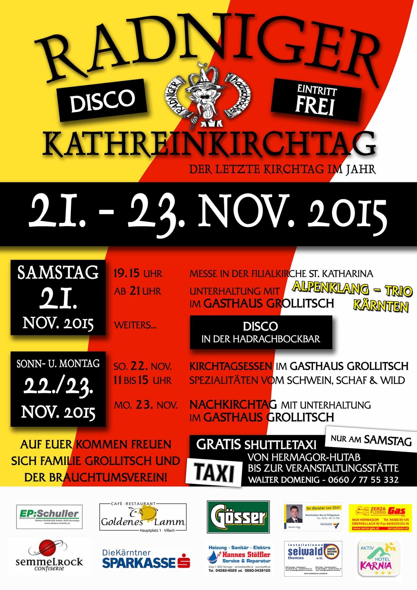 Kirchtagseinladung Kathreinkirchtag 2015